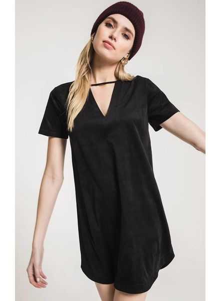 Z Supply Z Supply Suede Cut Out Dress Black