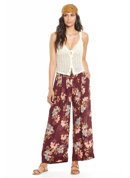 Patrons of Peace Patrons Full Floral Pant Merlot