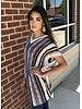 Easel Easel Boho Hooded Striped Sweater Multi