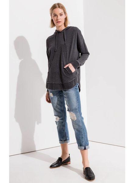 Z Supply Z Supply Hoodie with Pockets Grey