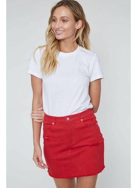 Peach Love Peach Love Mini Skirt Red