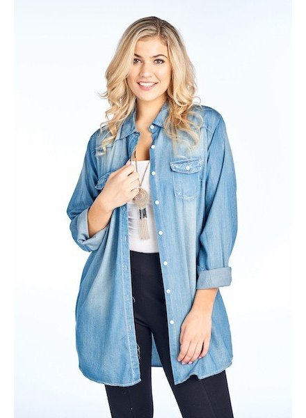 BD Collection BD Collection Tencel Chambray Top