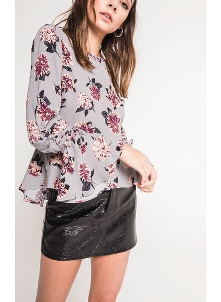 Black Swan Black Swan Jade Printed Top Grey