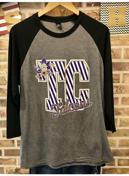 MISC Gameday TC Raglan Shirt Purple/Grey