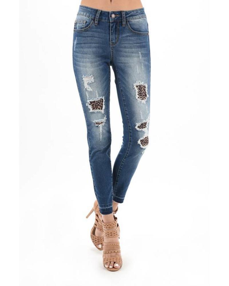 Judy Blue Judy Blue Leopard Patch Skinny Jean