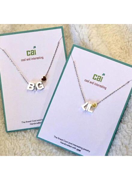 CAI CAI Silver Heart Necklace SIS