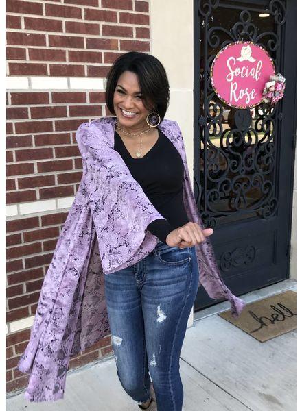 Buddy Love Buddy Love Roberts Latte Kimono Mauve/Pink