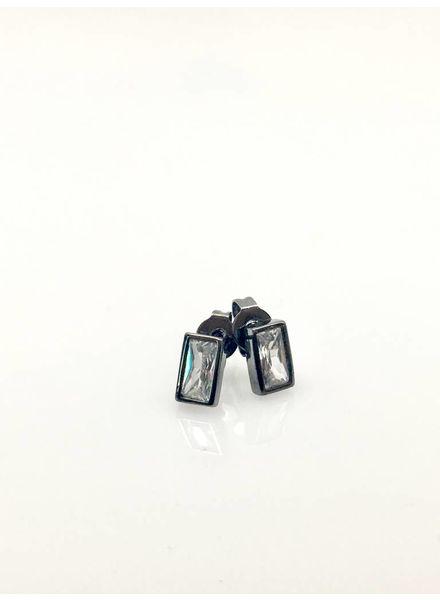 Nikko Blu Nikko Blu Gunmetal Stud Earrings