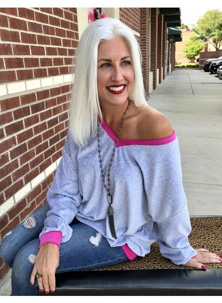 Fantastic Fawn Fantastic Fawn Sweatshirt Soft Grey/Pink