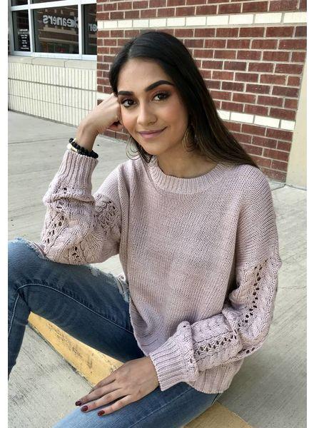 RD International RD International Cropped Sweater Pink Cloud