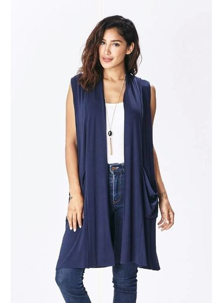 Emma's Closet Emma's Modal Vest Pockets
