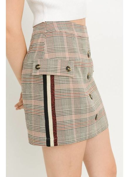 Le Lis Le Lis Woven Skirt with Side Stripe Multi