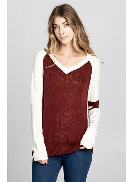 Wendy WEN Varsity Knit Sweater