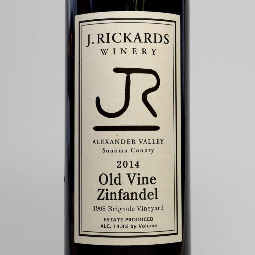 J Rickards Old Vine Zinfandel 2015