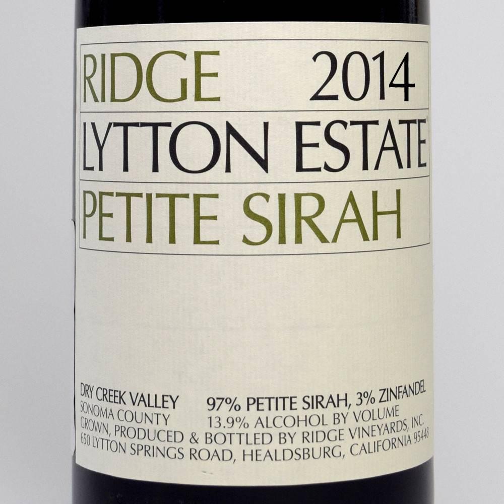 Ridge Lytton Estate Petite Sirah 2014