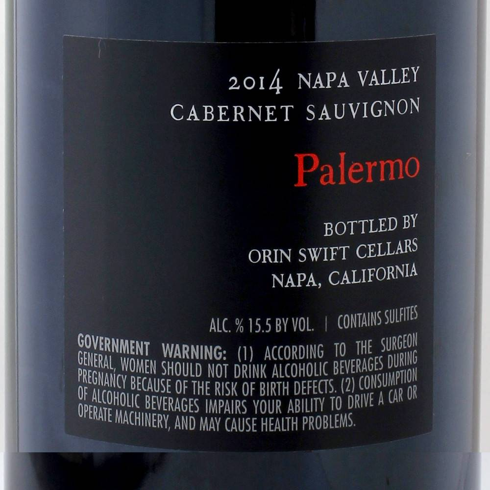 Orin Swift Palermo CS 2015