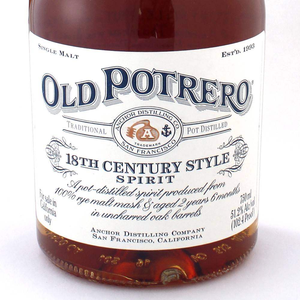 Old Potrero Rye Whiskey 18th Century SM