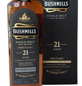 Bushmills Single Malt 21 year Irish Whiskey