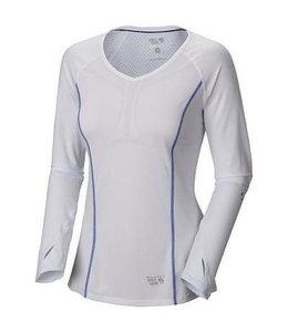 Mountain Hardwear Women's CoolRunner Long Sleeve T- White- XS