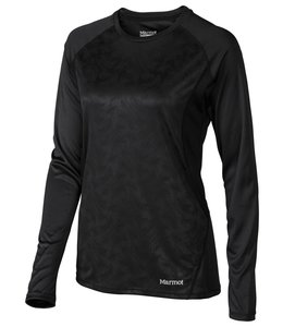 Marmot Women's Crystal Long Sleeve Shirt-Black Vortex- XS