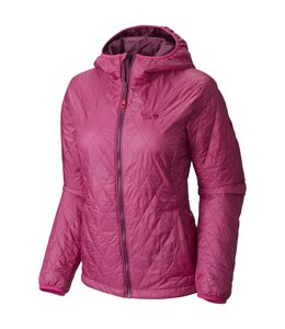Mountain Hardwear Women's Thermostatic Hooded Jacket-Deep Blush- XS