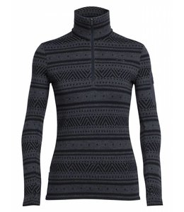 Icebreaker Women's Vertex Long Sleeve Half Zip Icon Fairisle