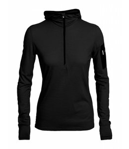 Icebreaker Women's Terra Long Sleeve Half-zip Hood