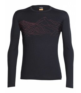 Icebreaker Men's Oasis Long Sleeve Crewe Topochartic