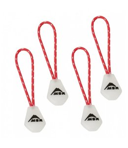 MSR Night Glow Zipper Pulls Red/White