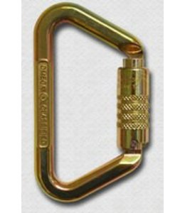 "Omega Pacific Standard D 1/2"" Steel Large D Keylock 3-Stage NFPA ANSI - Gold"