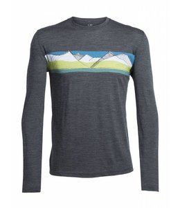 Icebreaker Men's Tech Lite Long Sleeve Crewe South Alps