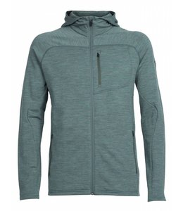Icebreaker Men's RealFLEECE Mt Elliot Long Sleeve Zip Hood, Medium