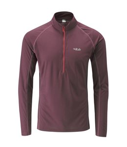 Rab Men's Interval Long Sleeve Zip Tee Maple