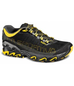 La Sportiva Men's Wildcat 3.0 Trail-Running Shoes- Black/Yellow- 39