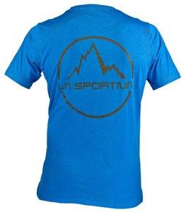 La Sportiva Men's Vintage Logo T-Shirt-Blue-L