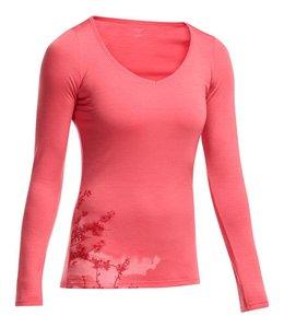 Icebreaker Women's Siren Long Sleeve Sweetheart Shirt Cherry Blossom - 2015 Closeout
