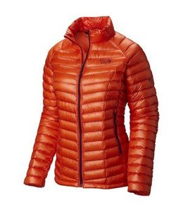 Mountain Hardwear Women's Ghost Whisperer Down Hooded Jacket- Naval Orange- XS