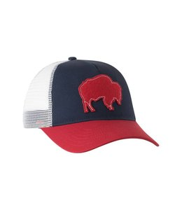 Mountain Khakis Bison Patch Trucker Cap-Engine Red O/S