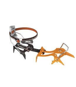 Petzl DART mono-point crampon for ice and mixed climbing with LeverLock Fil