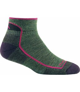 Darn Tough Women's Hiker 1/4 Sock Cushion- Moss Heather- L