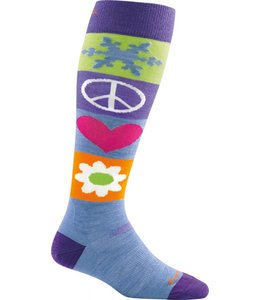 Darn Tough Women's Peace Love Snow Over-the-Calf Cushion Sock