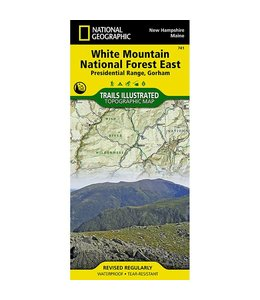 National Geographic National Geographic White Mountain National Forest East Trail Map