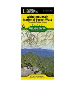 National Geographic National Geographic White Mountain National Forest West Trail Map
