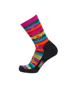 Point 6 Active Stripe Bolivian Stripe Extra Light 3/4 Crew Sock- S