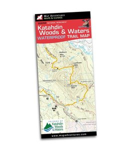 Map Adventures Katahdin Woods & Waters Waterproof Trail Map