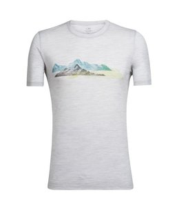 Icebreaker Men's Tech Lite Short Sleeve Crewe Misty Peaks