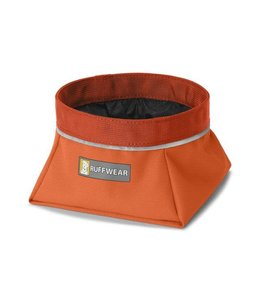 Ruffwear Quencher Cinch Top Waterproof Collapsible Dog Bowl Orange (M)