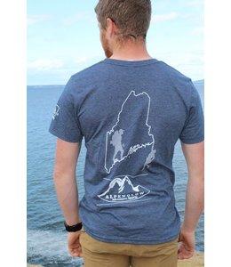 Mount Inspiration Alpenglow Adventure Sports Maine T-Shirt