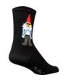 SockGuy Gnomies crew socks, black - 5-9