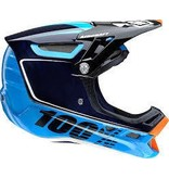 100% 100% Aircraft Carbon Full-Face Helmet, Bi-Turbo Blue, MD (57-58cm)